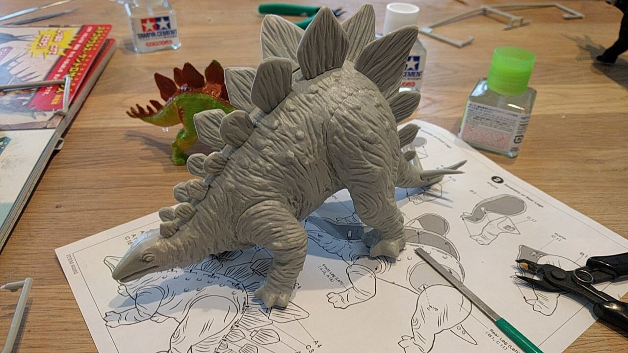今回のキット タミヤ ステゴサウルス